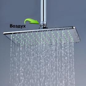 """Водосберегающая лейка """"Тропический душ"""" DWS-AIR-QXL-01 прямоугольная"""
